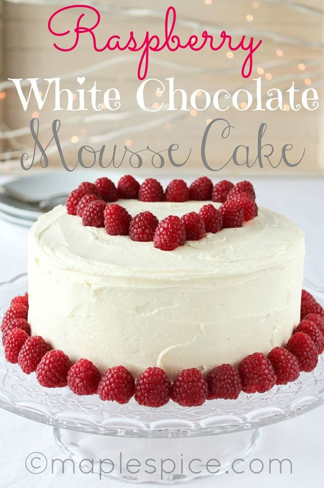 Raspberry White Chocolate Mousse Cake: Vegan For the coulis: • 500g ...