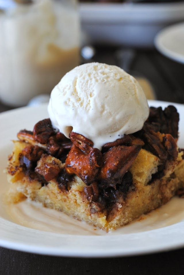 Sundae Brunch: Chocolate Peanut Butter Pretzel Pecan Pie Bread Pudding ...