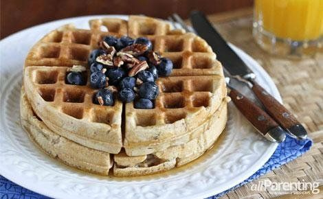 Cinnamon, ginger & pecan waffles | Breakfast | Pinterest