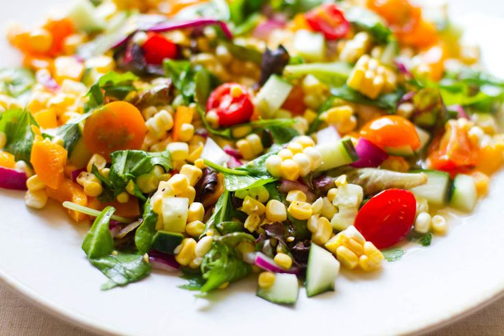 Fresh Corn Salad. I add avocado to this as well. No corn salad is ...