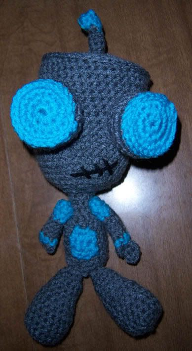 Crochet Invader Zim Patterns : April Draven: FREE crochet GIR pattern Knit your heart out ...