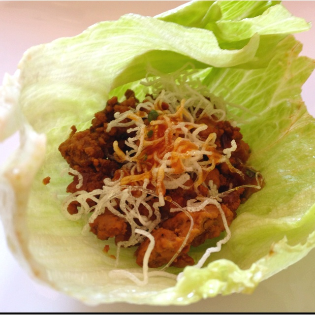 Lettuce pork wrap   de li cious   Pinterest