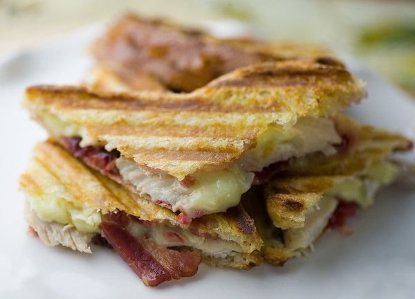... have leftovers? Time for Turkey, Cranberry, Brie and Bacon Panini