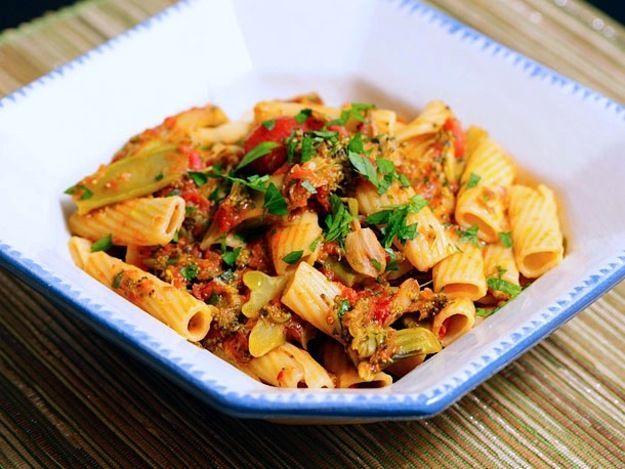 Pasta with Braised Broccoli and Tomato | Recipe