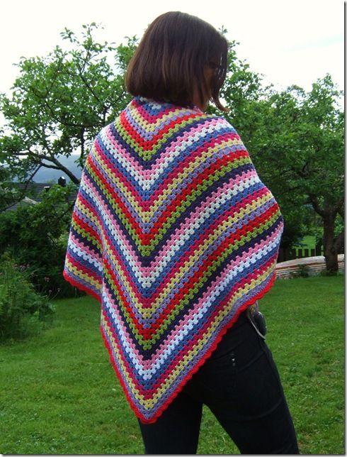 Crochet Granny Shawl Crochet - Love Pinterest