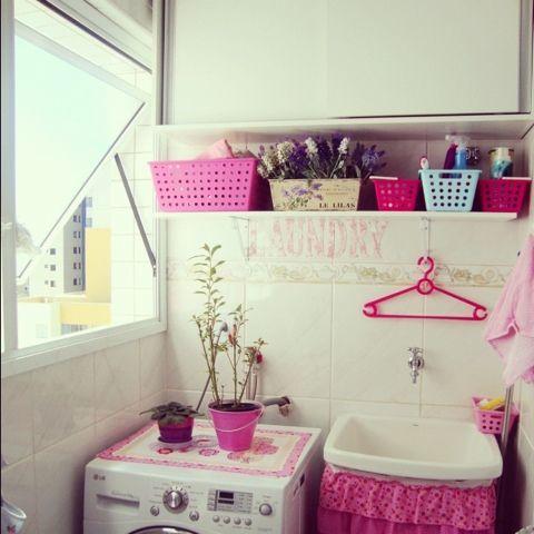 O AMBIENTE IDEAL: Mimos para minha lavanderia