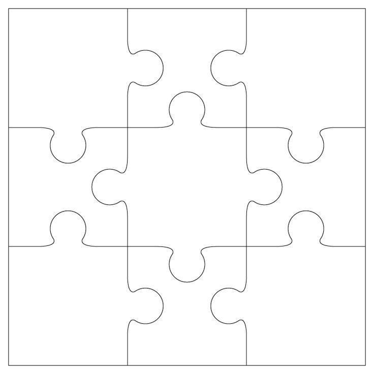 Blank 9 Piece Puzzle C Ile Web E Hukmedin