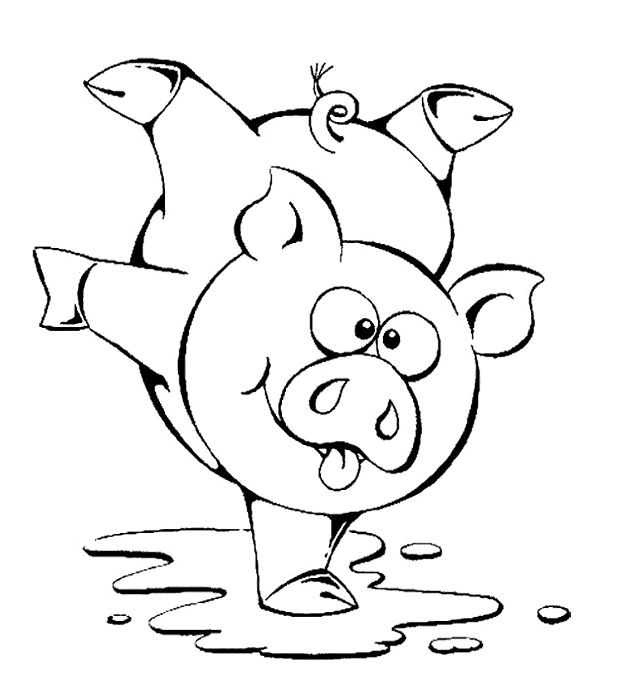 pig in mud coloring pages - photo#20