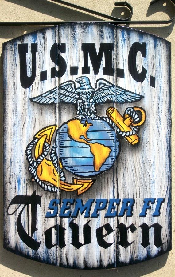USMC sign for back porch or garage