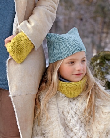 Childs Hat and Cowl project Pinterest