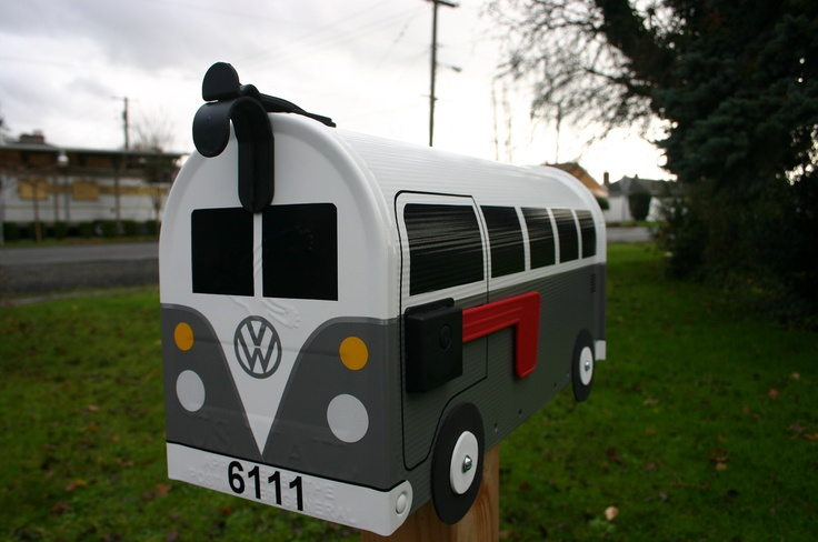 Volkswagen vw mailbox volkswagon bus letterbox mail etsy