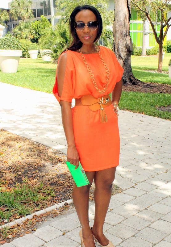 Orange Dress + Carnival Party