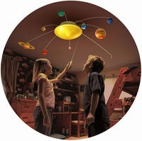solar system from ceiling light  Kids Too Cool For School  Pinterest