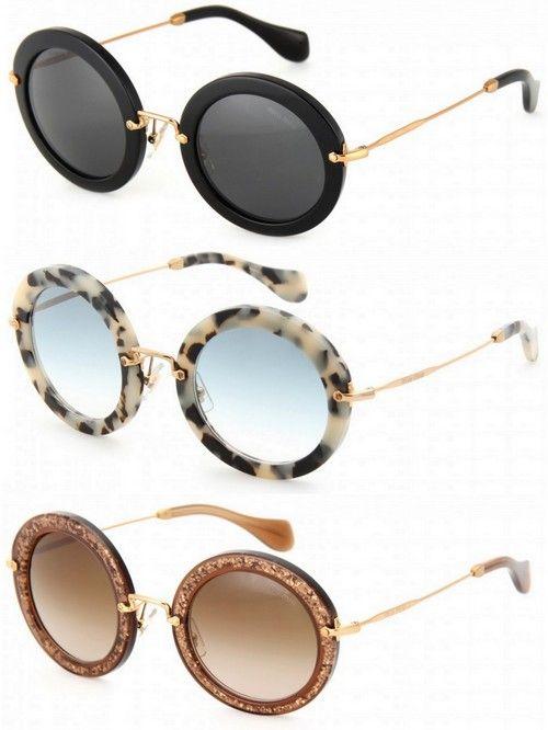 Miu Miu Round Retro Sunglasses