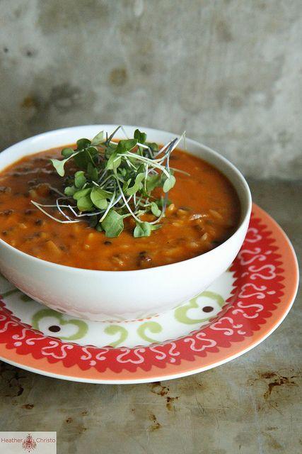 Spicy Tomato Lentil Soup by Heather Christo, via www.heatherchristo ...
