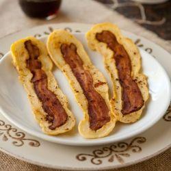 bacon pancakes strips | breakfast/brunch | Pinterest