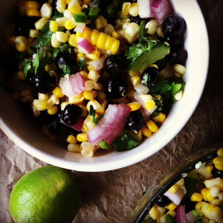 blueberry and corn salad | Ooompa Looompa | Pinterest
