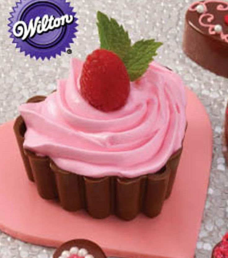 Mousse filled ruffled #chocolate #hearts - Happy #Valentine's Day! @Wilton Cake Decorating