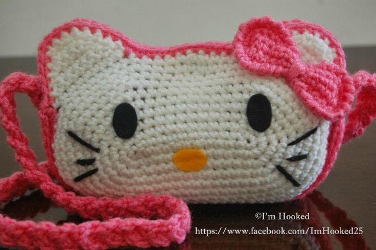 Free Crochet Pattern Hello Kitty Bag : Im Hooked!: Kitty Purse (Free Pattern) Knitting Pinterest