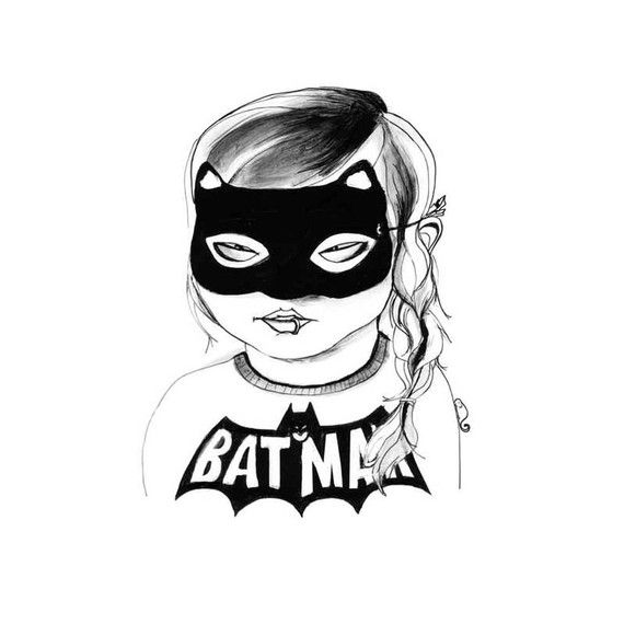 I'm a sucker for slightly odd but distinctly badass little girls. The artist is Fee Harding.