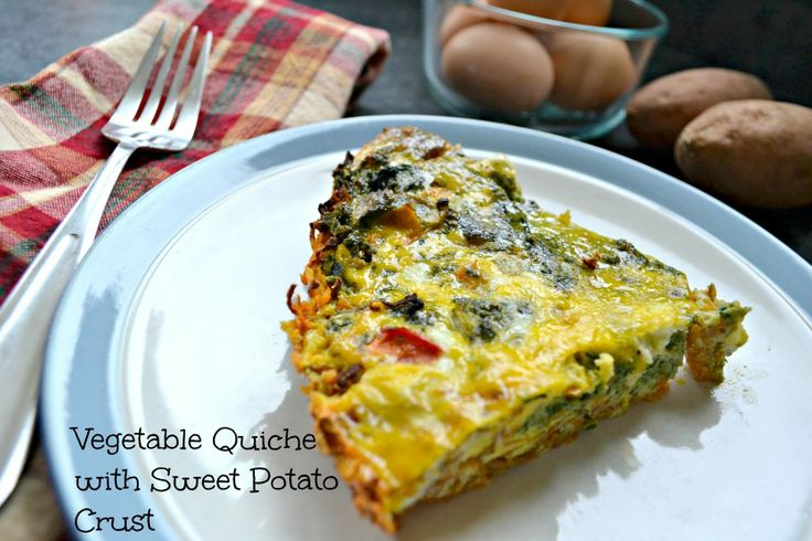 Veggie Quiche with Sweet Potato Crust- Life in Our Kitchen. I used ...