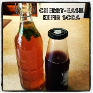 Get your probiotics with this refreshing Cherry-Basil Kefir Soda.