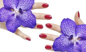 Groupon - Gel Manicure and Optional Gel Pedicure at Posaré Salons (50
