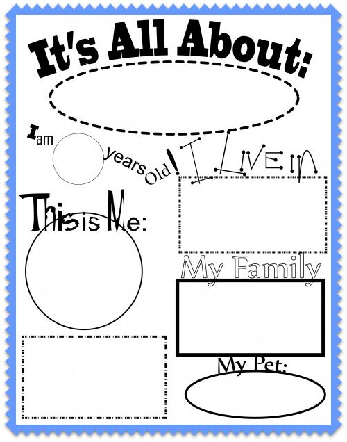 My Neighborhood All About Me Worksheet And Song | Apps Directories