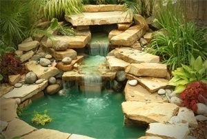 Build your own pond and waterfall i really want this for Build your own waterfall pond