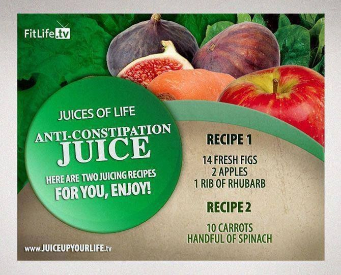... Anti-Constipation Juice Recipe #figs #apple #rhubarb #carrots #spinach