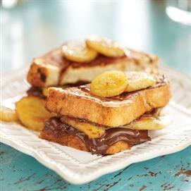 Chocolate Hazelnut Banana-Stuffed French Toast. Thank you Jif.
