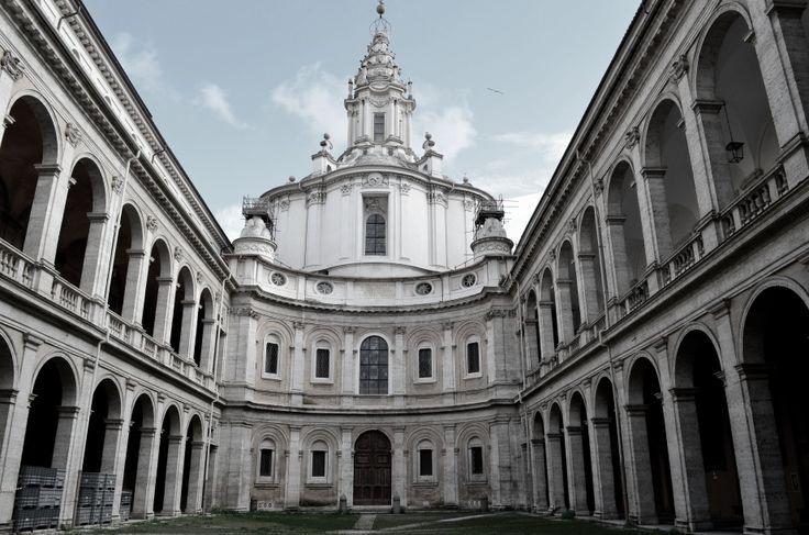 ITALIAN BAROQUE ARCHITECTURE  Borromini  Sant ivo alla Sapienza  1642    Italian Baroque Architecture