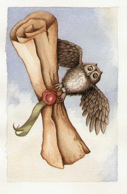 Owl delivering the letter - Pottermore art! :)