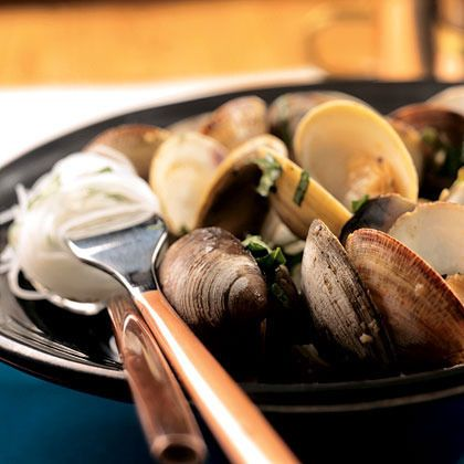 Steamed Clams with Thai Basil and Chiles by Cooking Light