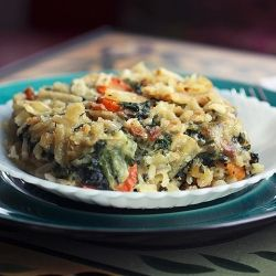 Parmesan Spinach Casserole with Garlic Brown Rice even my 8-year-old ...