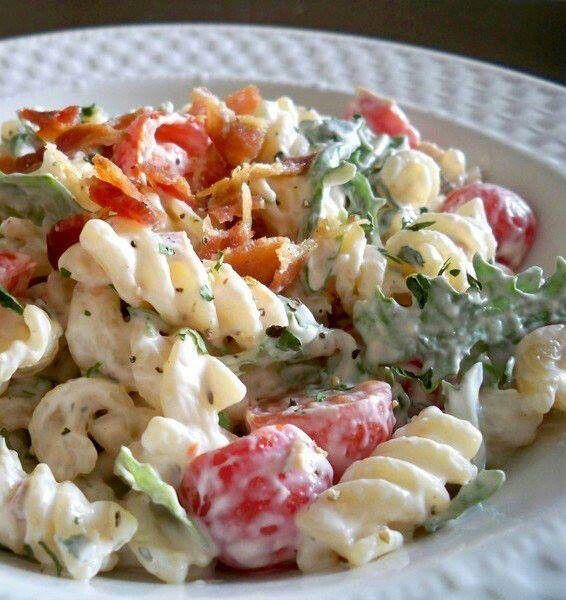 Blt pasta salad | Recipes | Pinterest