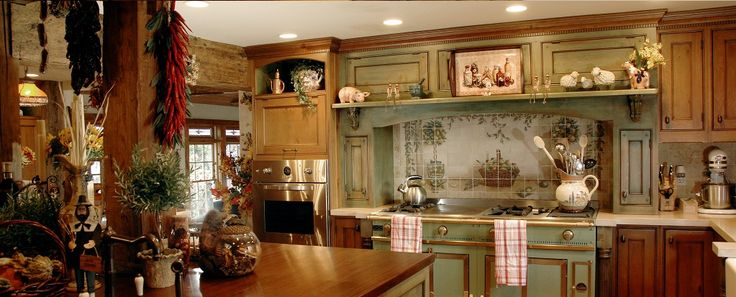 Pin by leslie sorrells on kitchens pinterest for Small french country kitchen designs