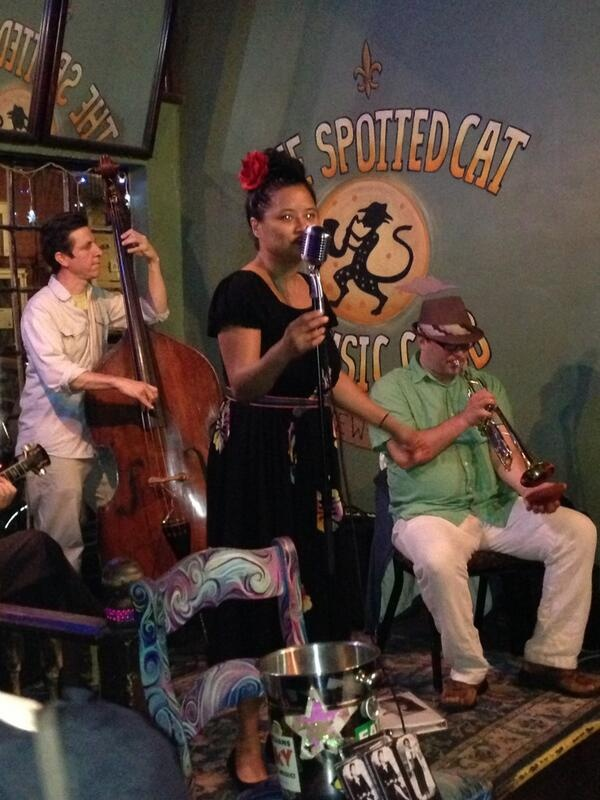 Great music at the spotted cat loved seeing miss sophie lee with my