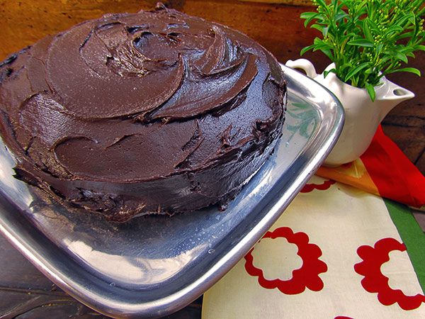 Mexican Hot Chocolate Cake With Ganache Frosting Recipe — Dishmaps