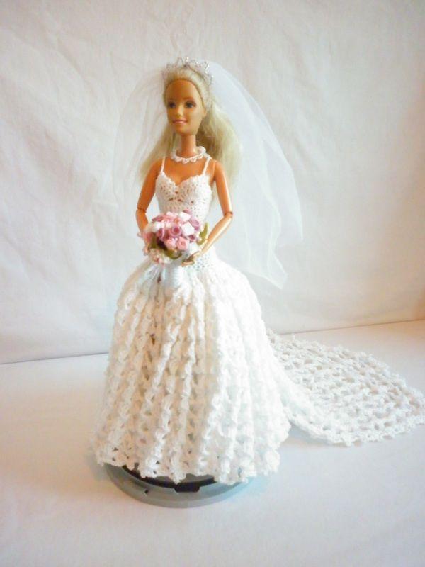 Boo Bears Crochet Barbie Wedding Dress crochet dolls ...