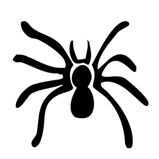 SPIDER SILHOUETTE Free Black & White Halloween Clip Art ...