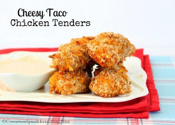 Cheesy Taco Chicken Tenders   Recipe