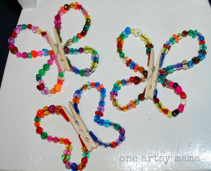 One Artsy Mama: Easy Beaded Butterfly