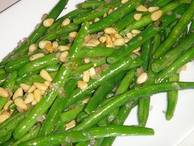 green beans with pine nuts tossed in lemon butter