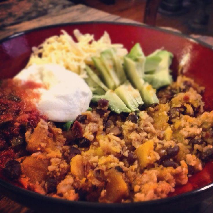Black Bean And Butternut Squash Burritos Recipe — Dishmaps