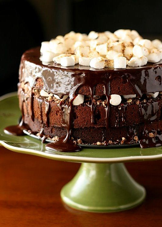 Chocolate-Malt Cake - Perry's Plate. I wouldn't put the marshmallows ...
