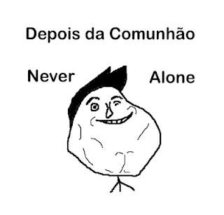 Never Alone Ghost Meme