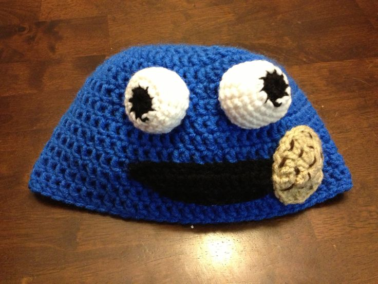 Amigurumi Cookie Monster Free Pattern : Cookie Monster Crochet Hat Pattern myideasbedroom.com