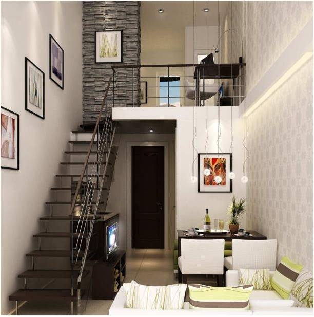 A small but two bedroom loft modern interiors pinterest Small homes with lofts
