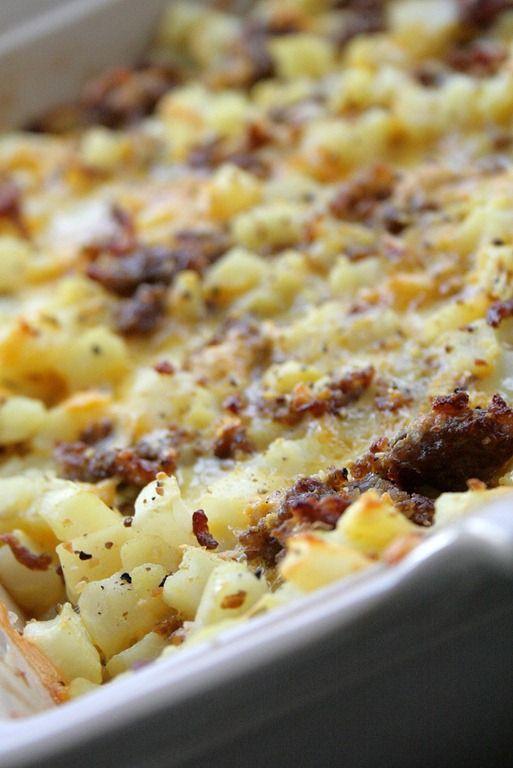 Cheesy Potato Breakfast Casserole. I make this often. Easy to make!